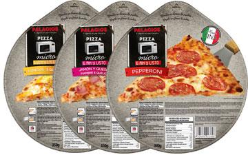Pizzas surgelées format - 25 cm micro