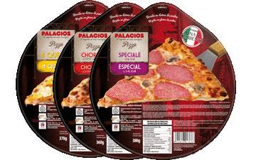 Pizzas surgelées format standard - 27 cm