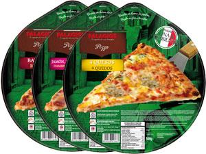 Pizzas surgelées fomat familial- 32 cm