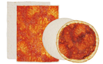 Bases surgelées pour pizzas