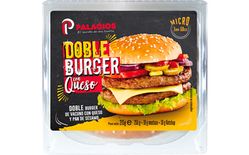 Double burger au fromage